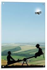 Childhood Dreams, The Seesaw, Acrylic Print