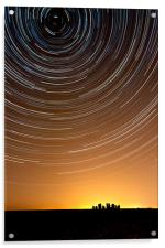 Stonehenge Startrails 1, Acrylic Print
