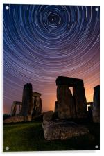 Stonehenge Startrails 3, Acrylic Print
