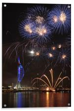 Spinnaker Tower fireworks, Acrylic Print