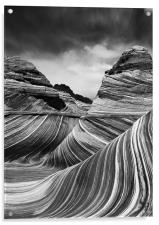 The Wave - Black & White 4, Acrylic Print