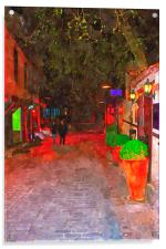 cobbled back streets of Kaleici in Antalya Turkey, Acrylic Print