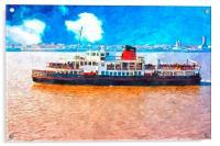 Mersey Ferry in Liverpool UK, Acrylic Print