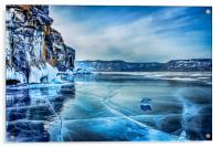 Lake Baikal. March, Acrylic Print