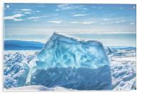 Pressure ridge of lake Baikal, Acrylic Print