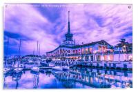 Marine station of Sochi, Acrylic Print