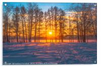 Winter sunset, Acrylic Print