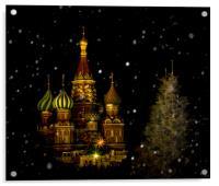 Moscow Night, Acrylic Print