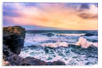 Sunset of the Bay of Biscay , Acrylic Print