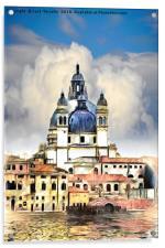 Santa Maria della Salute Venice, Acrylic Print