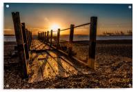 Evening Pier, Acrylic Print