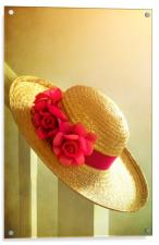 Summer Hat, Acrylic Print