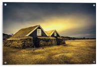 Old Huts, Acrylic Print