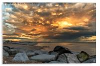Lancing Beach near Widewater Lagoon, Acrylic Print