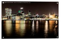 London at Night, Acrylic Print