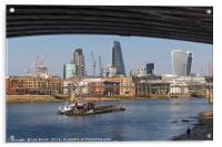 London Skyline and the River Thames, Acrylic Print