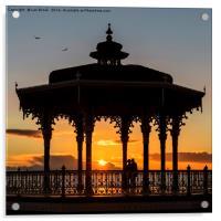 Brighton Bandstand Sunset, Acrylic Print