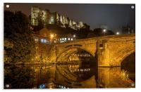 Durham Castle and Framwellgate Bridge by Night, Acrylic Print