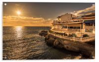 Beautiful La Caleta Sunset, Acrylic Print