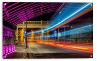 Light Trails High Level Bridge, Acrylic Print
