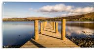 Jetty View to the Helvellyn mountains, Acrylic Print