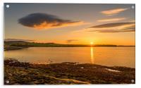 Photos of Northumberland - Budle Bay Sunset, Acrylic Print