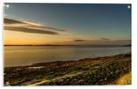 The Bay at Sundown, Acrylic Print