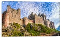 A different view of Bamburgh Castle, Acrylic Print