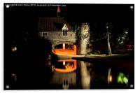 Pull's Ferry at Night, Acrylic Print