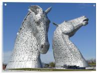 The Kelpies sculptures in Falkirk , Acrylic Print