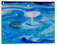 milk splash, Acrylic Print