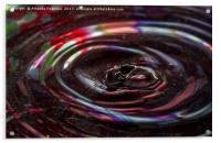 water drop ripples, Acrylic Print