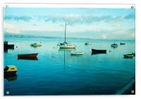 High TIde in Penclawdd (Loughor Estuary) Xmas morn, Acrylic Print
