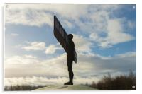 Angel of the North in the snow , Acrylic Print
