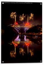 Clifton Suspension Bridge 150th Anniversary firewo, Acrylic Print