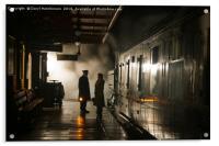 Off the last train, Acrylic Print