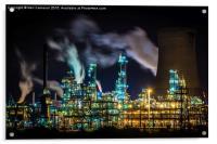 Saltend Chemical works, Acrylic Print