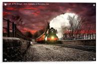 The flying scotsman locomotive, Acrylic Print