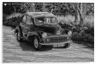 Morris Minor car classic, Acrylic Print