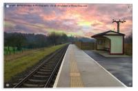 Burrs Station At Bury Lancs, Acrylic Print