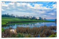 The Pond At Walmersley Golf Club, Acrylic Print