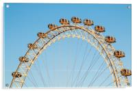 London Eye against a winter blue sky, Acrylic Print