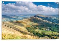 Peak District - The Great Ridge at Castleton, Acrylic Print