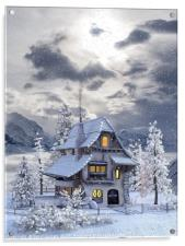 A picturesque Christmas , Acrylic Print