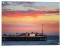 End of the pier Brighton , Acrylic Print