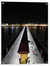 Night Time At The Pier Weston Super Mare, Acrylic Print