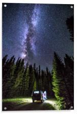 Milkyway over Mt Evans, Colorado., Acrylic Print