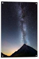 Milky Way over Buachaille Etive Mòr , Acrylic Print