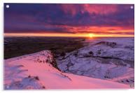 Peak District Winter sunrise, Acrylic Print