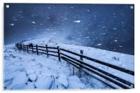 Blizzard in the High Peak, Acrylic Print